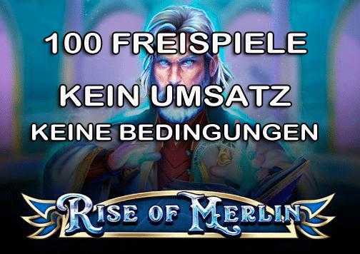 100 Rise of Merlin Freispiele ohne Umsatz