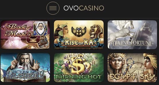EGT Spiele im OVO Casino
