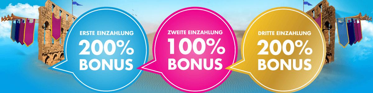 Vera & John Willkommens Bonus