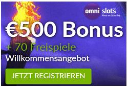 Omni Slots Bonus für Stakelogic und Gamomat