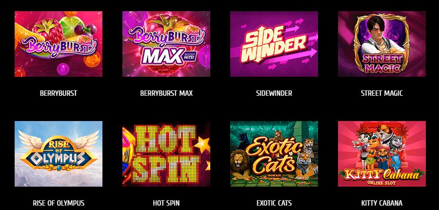 Futuriti Casino Spielautomaten von Play'n Go, NetEnt, Gamomat und Microgaming