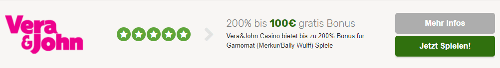 Vera&John Bonus Gamomat