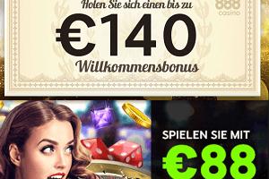 Gratis Geld ohne Einzahlung 88 + Bonus 140