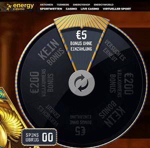 5 Euro ohne Einzahlung Energy Casino