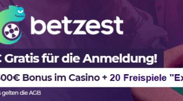 Ohne Einzahlung plus Freispiele im Betzest Casino spielen