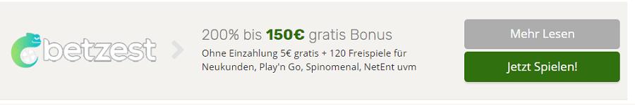 Betzest Online Casino Bonus