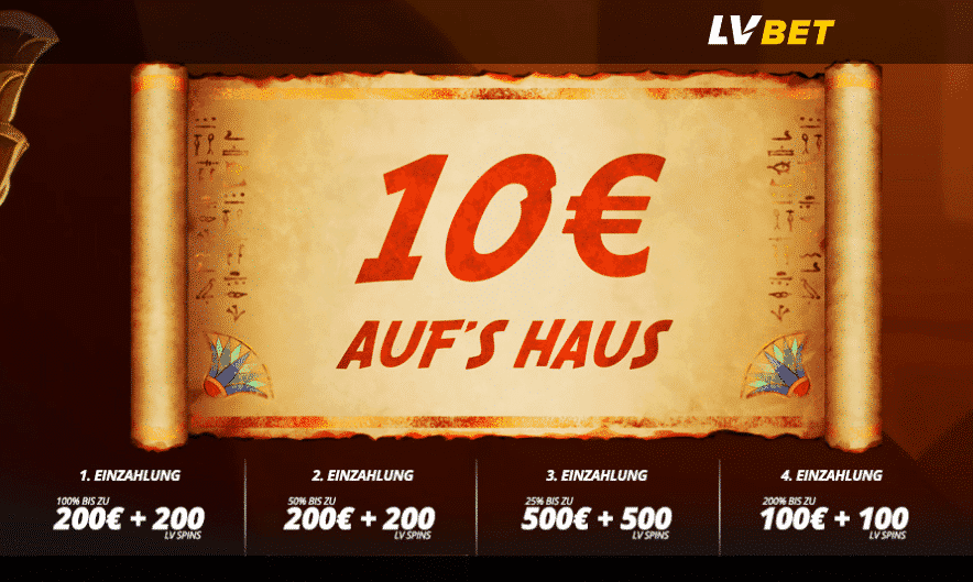 LVBet 10 Euro gratis Geld Casino