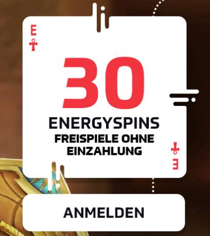 30 Freispiele ohne Einzahlung - Energyspins