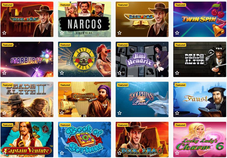 Spielautomaten im LuckyWins Casino
