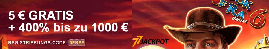 77 Jackpot Bonus Angebot