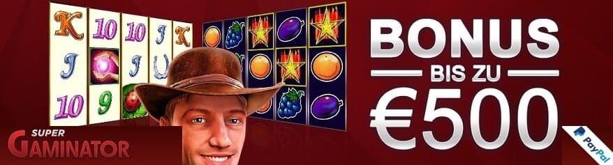 Bonus im Super Gaminator Casino