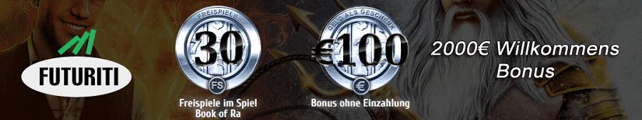 Futuriti 100€ gratis und 2000€ Bonus