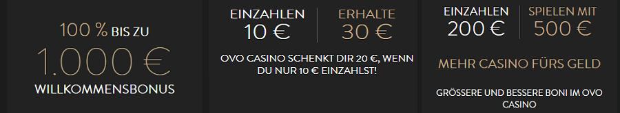 OVO Bonusangebot