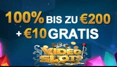 VideoSlots Willkommens Bonus