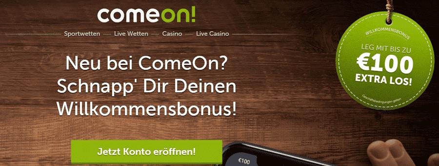 Comeon Casino - Stakelogic, Gamomat, Live Casino, sportwetten