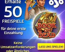 50 Freispiele ohne Umsatz im PlayOJO Casino