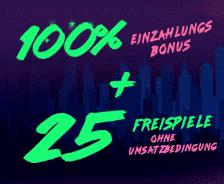 Futuriti Bonus – 1000€ gratis Geld Casino plus 25 umsatzlose Freispiele