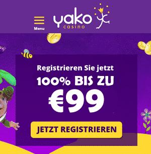 Yako Casino 99 Euro Bonus
