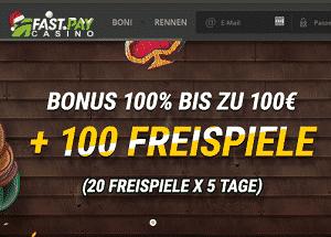 FastPay Casino 100% Bonus
