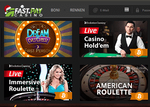 FastPay Live Casino Spiele