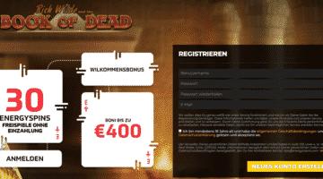 30 Book of Dead Freispiele ohne Einzahlung