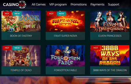 Casino4u Spielautomaten